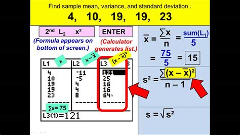 Sample Standard Deviation and Variance with the TI-84