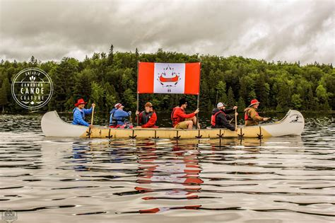The canoe is celebrated for Canada's 150 birthday