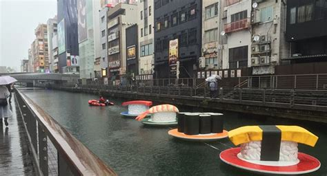 Rolling Down the River: Giant Sushi Edition   Japan Cheapo