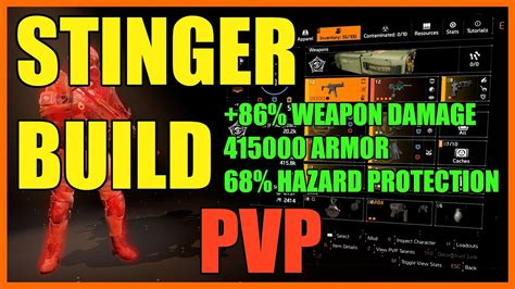 The Division 2   The Stinger SMG PVP Build   Crazy Damage