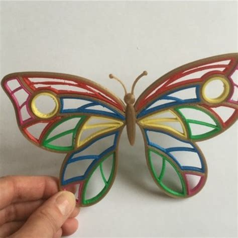 Download free 3D printing templates Quilling Butterfly