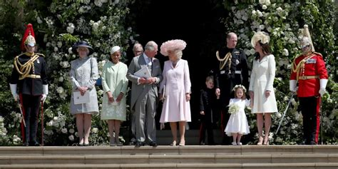 Royal Family Attends Prince Harry and Meghan Markle's