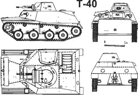 Russian tanks and armor T-40 T40