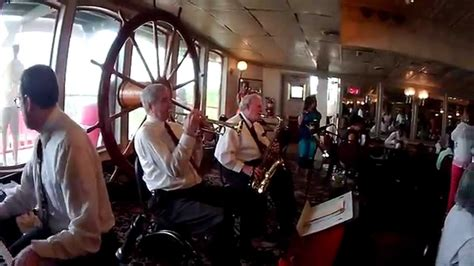 Steamboat Riverboat Dixieland Jazz band playing on the
