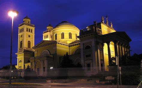 Eger Cathedral at Night